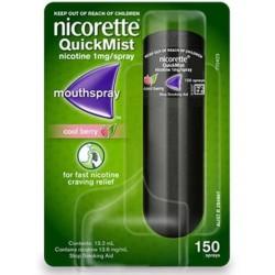 Nicorette Cool Berry Spray 1 mg / 1 dawkę o smaku owocowym 150 dawek