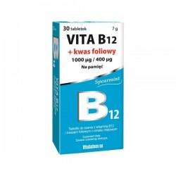 Vita B12 + Kwas foliowy  tabletki do ssania 30 tabl.