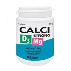Calci Strong + D3 + Magnez tabletki 150tabl.