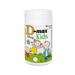 D-MAX Kids 400j.m. tableteki do ssania o smaku gruszkowym 90tabl.