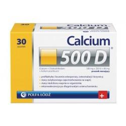 Calcium 500 D proszek musujący 30 sasz.