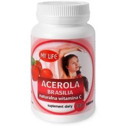 ACEROLA BRASILIA NATURALNA WITAMINA C tabletki 100 tabl.
