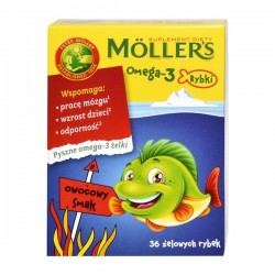 Moller's Omega-3 Rybki żelowe rybki 36 szt.