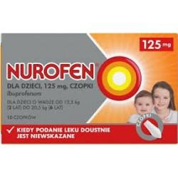 Nurofen dla dzieci 125mg czopki 10szt.