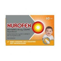 Nurofen dla dzieci 60mg czopki 10szt.