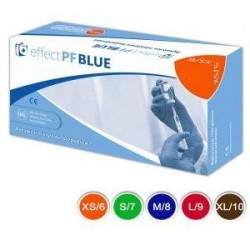 Effect PF Blue rękawiczki nitrylowe bezpudrowe cienkie S/7 niebieskie 100szt.