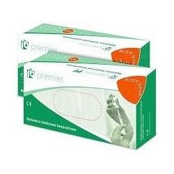 Premier PF rękawiczki  lateksowe bezpudrowe XS/6 kremowe 100szt.