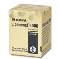 Lipancrea 8000 kapsułki 20 kaps.