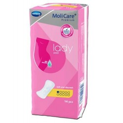 Molicare Premium Lady Pad 1 kropla Anatomiczne wkłady chłonne 14szt.