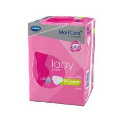 MoliCare Premium Lady Pants  5 kropli majtki chłonne dla kobiet rozmiar M 8 szt.