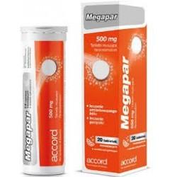 MEGAPAR 500 mg tabletki musujące 20 tabl.
