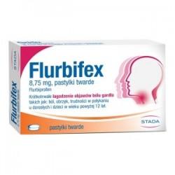 Flurbifex 8,75 mg pastylki do ssania 16 past.