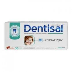 Dentisal pastylki do ssania o smaku truskawkowym 30past.