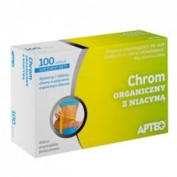 Chrom organiczny z niacyną Apteo tabletki 100tabl.