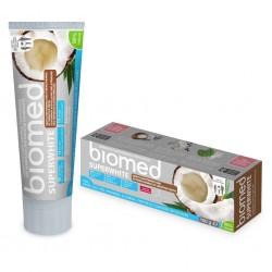 BIOMED SUPERWHITE wybielająca pasta do zębów z olejkiem z kokosa i papainą 100 g