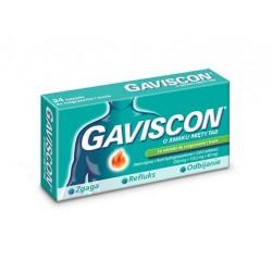 Gaviscon o smaku miętowym tabletki do rozgryzania i żucia 24 tabl.