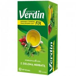 Verdin Fix  z zielona herbatą herbatka saszetki 20 sasz.