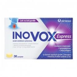 Inovox Express smak miodowo-cytrynowy 36 pastylki do ssania