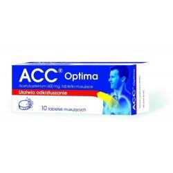 ACC optima 600 mg tabletki musujące 10 tabl.