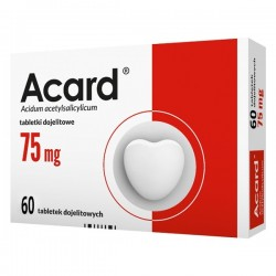 Acard 75 mg tabletki dojelitowe 60 tabl.