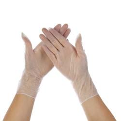 Rękawiczki winylowe bezpudrowe L 100szt.