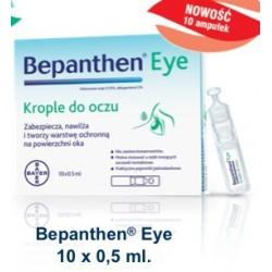 Bepanthen Eye krople do oczu 10 pojemników jednorazowych 0,5 ml
