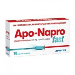 Apo-Napro Fast 220 mg kapsułki miękkie 10kaps.