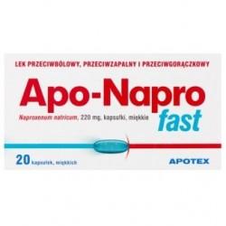 Apo-Napro Fast 220 mg kapsułki miękkie 20kaps.