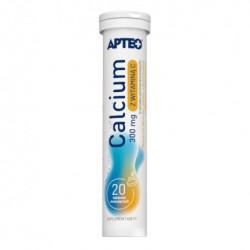 Calcium 300 mg z witaminą C Apteo tabletki musujące smak pomarańczowy  20tabl.