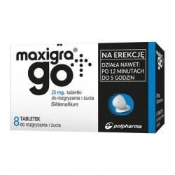 Maxigra Go 25 mg tabletki do rozgryzania i żucia 8 tabl.