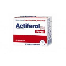 Actiferol Fe FORTE bioprzyswajalne żelazo 30 mg + foliany 200 mcg 60 kapsułek