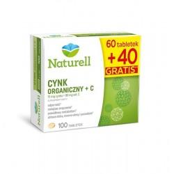 Naturell Cynk organiczny + C tabletki 100 tabl.