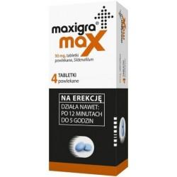 Maxigra Max 50 mg tabletki powlekane 4 tabl.