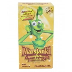 Marsjanki Imunactiv pastylki o smaku pomarańczowym 60 past.