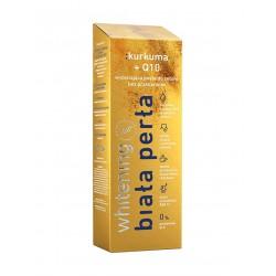 Biała Perła kurkuma + Q10 Bez przebarwień pasta wybielająca zęby lemon extract  (dla pijących kawę i herbatę) 75 ml