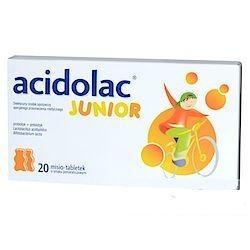 Acidolac Junior misio-tabletki o smaku pomarańczowy 20 tabl.