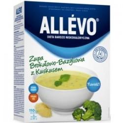 Allevo zupa brokułowo - bazyliowa z kuskusem 5 torebek 1 op
