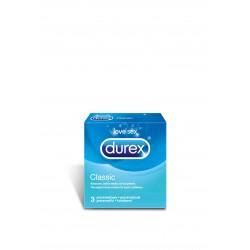 Durex Classic prezerwatywy ze środkiem nawilżającym 3 sztuki