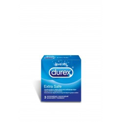 Durex Extra Safe prezerwatywy grubsze 3 sztuki
