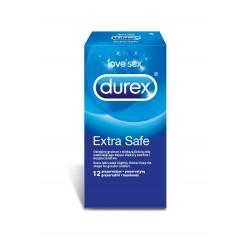 Durex Extra Safe prezerwatywy grubsze 12 sztuk