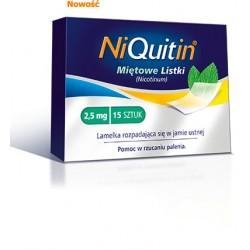 Niquitin 2,5 mg miętowe listki 15 szt.