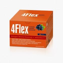 4 Flex o smaku czarnej porzeczki  Kolagen Nowej Generacji + witamina C saszetki 30 sasz.