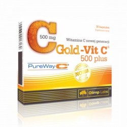 Gold-Vit C 500 Plus kapsułki 30 kaps.