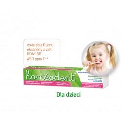 Homeodent Dla Dzieci ochrona zebów mlecznych 2-6 lat żel do zębów 50 ml