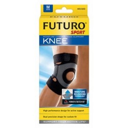 Futuro Sport Stabilizator kolana ze wzmocnieniem rzepki rozmiar M kolor czarny 1op.