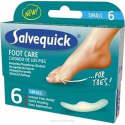 Salvequick FOOT CARE small  plastry na pęcherze i otarcia małe 6 sztuk
