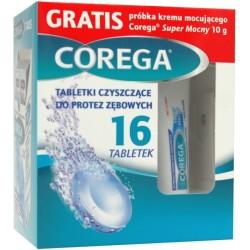 Corega Tabs tabletki czyszczące do protez 16 tabl. + Corega Super Mocny 10g GRATIS