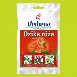 Verbena Dzika Róża ziołowe cukierki z dziką różą i witaminą C 60g