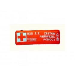 Apteczka Samochodowa DIN 13164 (torba) z trójkątem ostrzegawczym i kamizelką ostrzegawczą 1szt.