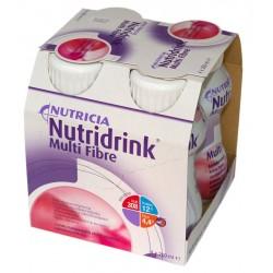 Nutridrink Multi Fibre o smaku truskawkowym 4 x 200 ml